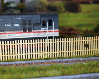 Laser cut Old wooden fencing oo scale 1:76