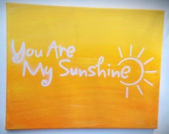 You Are My Sunshine Ombré Canvas