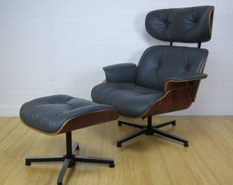Mid Century Modern Eames Style Plycraft Lounge Chair and Ottoman