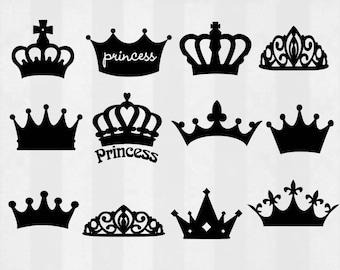 Crown SVG Bundle, crown clipart, crown cut files, svg files for silhouette, files for cricut, svg, dxf, eps, cuttable design