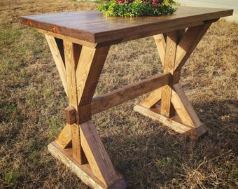 Counter Height Fancy X Farmhouse Table