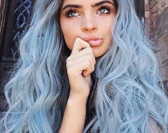 Baby Blue Pastel Salon Grade Hair Chalk * 1 Stick * Temporary Hair Color * Wash out Hair Dye