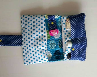 Diaper-pouch with handy storage compartments polka dots babytas diaper bag