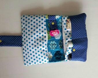 diaper-pouch with handy storage boxes babytas dots diaper bag diaper bag