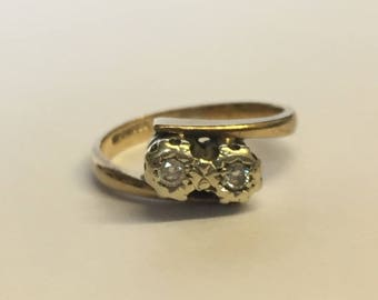 9ct Gold Illusion Set Diamond Engagement Ring