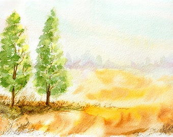 Landscape Watercolour Painting Q30