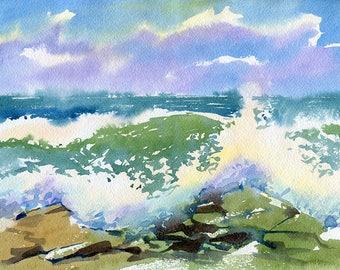 Landscape Original Watercolour Painting Q95