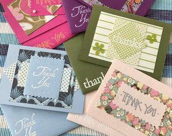 Handmade Thank You notes with matching embellished envelopes