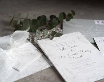 Iris Wedding Invitation