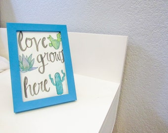 Love Grows Here Watercolor Print
