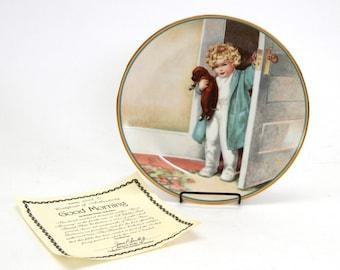 2 Bessie Pease Gutmann Collector Plates Hamilton 1985