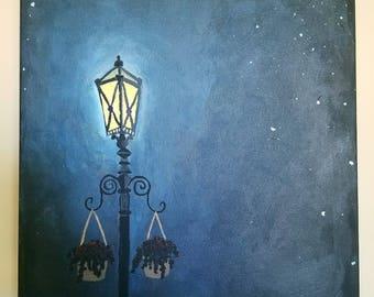 Acrylic Streetlight Painting