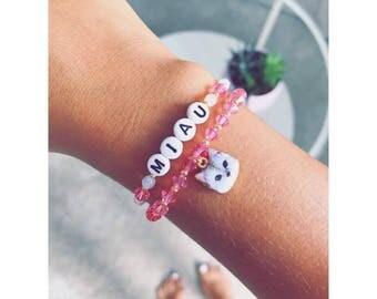 CAT bracelet 2-piece pink