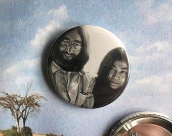 "John Lennon and Yoko Ono 2.25"" Pin (One-Of-A-Kind)"