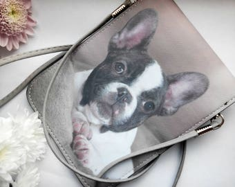 Dog bag/Brown and White bag/ Waterproof Canvas/Toddler purses/Toddler coin purse