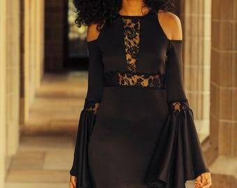 Black dress, Butterfly dress