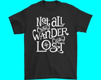 Women's Not All Who Wander Are Lost Camp T Shirt