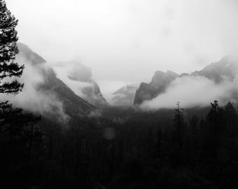 Yosemite National Park Wall Art, California Mountain Landscape,  Nature Landscape, Canvas Print