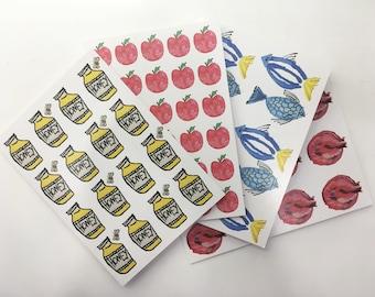 Rosh Hashanah Greetings Cards - Pack of 4 Designs
