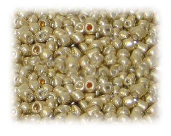 6/0 Bright Gold Metallic Glass Seed Beads, 1 oz. bag