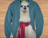 TeenMango Colorful Posh Llama Sweater (fullprint, colorfull)