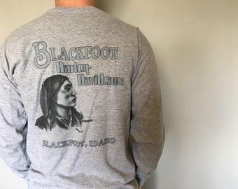 Vintage Harley Davison Long Sleeve Idaho