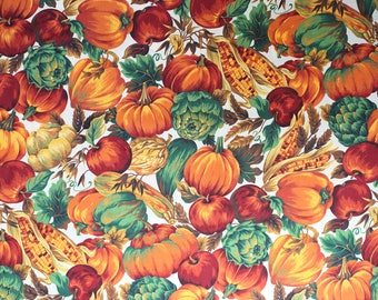 Vintage Pumpkin and Gourds Fabric