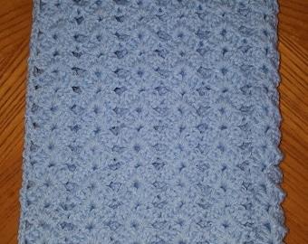 Blue Shell Baby Blanket