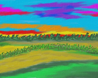Hay Green Field