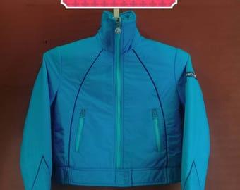 Vintage Moncler Jacket Sweater Ski Wear Jacket Blue Colour Size M Goose Down Jackets Asics Sportswear