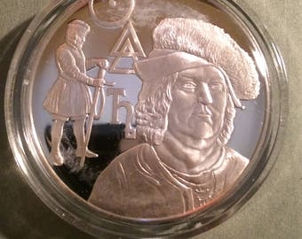 Paracelsus - Sterling Silver History of Science (Proof)