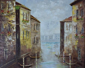 Large Cloudy Day in Venice Oil Painting