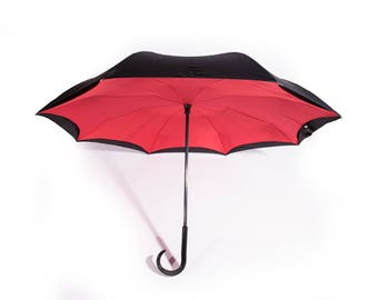 Umbrella Inverted Umbrella by Umbrolli Double Layer for the Ultimate in rain and wind protection,