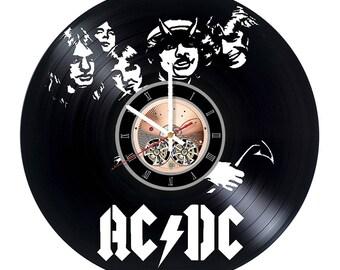 ACDC music Vinyl Record Wall Clock gift idea wall art decor