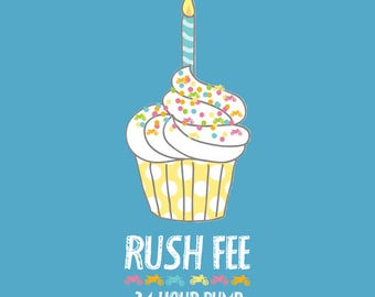RUSH FEE  Ready to ship in 24 hours