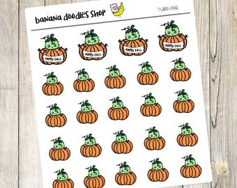 Tubs Fall Pumpkin Stickers
