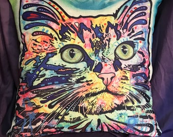 Punky Cat Pillow Cover