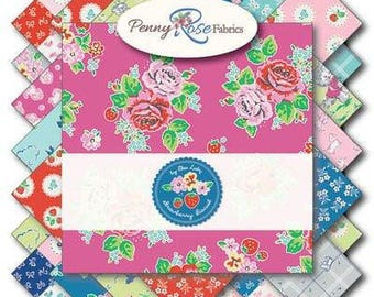 "Strawberry Biscuit | Elea Lutz | Penny Rose Fabrics | Charm Pack | 5"" Squares 