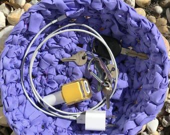 Lavender Crocheted Rag Bowl