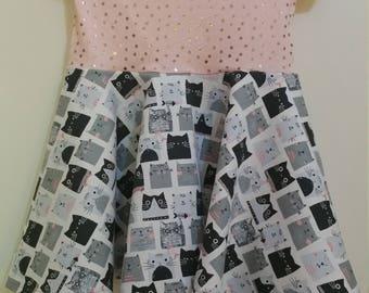 Size 4 S/S Kitty Cat Dress