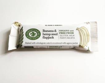 Organic, Vegan, Gluten Free Banana & Hemp Seed Flapjack