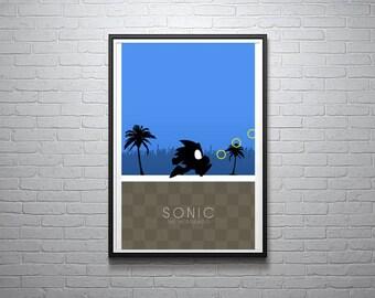 Sonic the Hedgehog Minimalist Print - 11x17