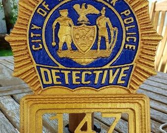 NYPD Detective shield wall art
