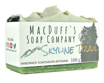 Handmade Clay Soap Bar - Skyline Trail - Fir - Spruce - Soil - Vegan - Shea Butter Soap - Avocado Oil - Moisturizing - Canadian Glacial Clay
