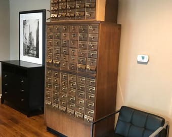 Vintage 72 Drawer Card Catalog
