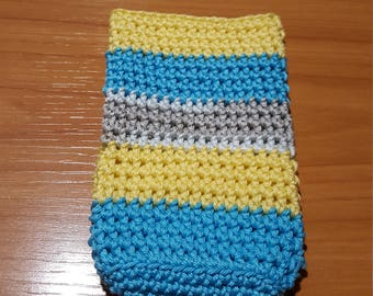 crocheted cell phone case
