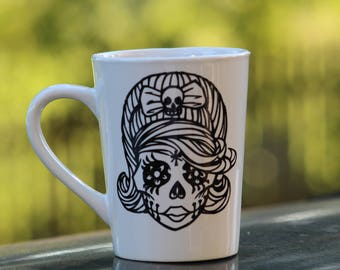 Sugar Skull Lady Mug