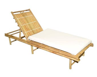 Bamboo Sunbed Chaise Lounge Chair - Outdoor Furniture