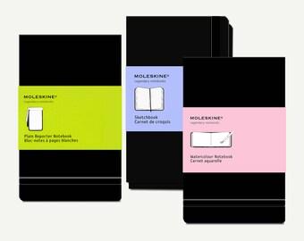 Moleskine Notebook, Sketchbook, Watercolor Notebook, Reporter Notebook - Moleskine journal, Moleskine pocket, Moleskine diary, hardcover, A6