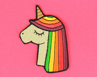 Rainbow Unicorn Patch - Iron-On Patch